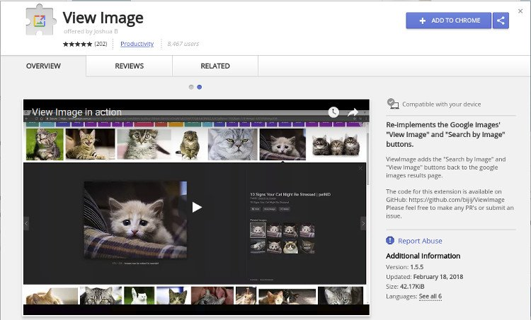 view-image-chrome-extension
