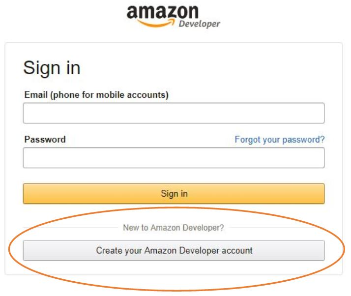 raspberrypi-echo-amazon-developer-account