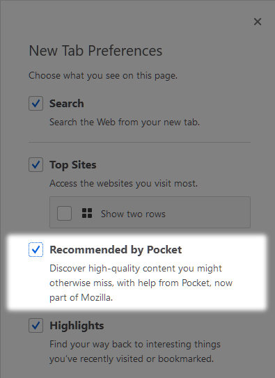 How to Disable Pocket in Firefox on Desktop and Mobile