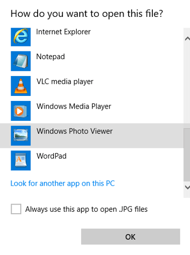 How to Set Windows Photo Viewer as Default in Windows 10