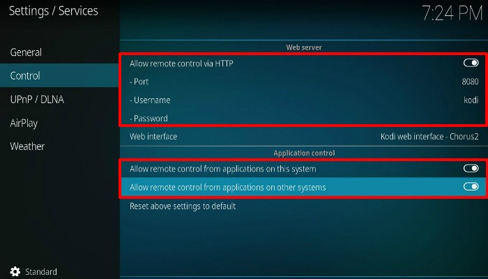 kodi-settings-services