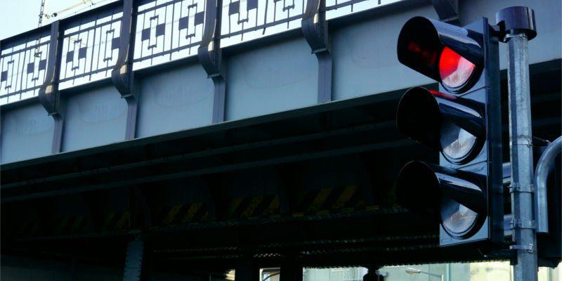 Stoplight on red