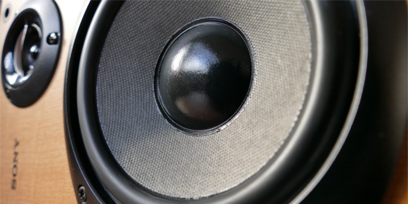 Desktop speaker close-up