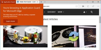 How to Enable Microsoft Edge Application Guard on Windows 10