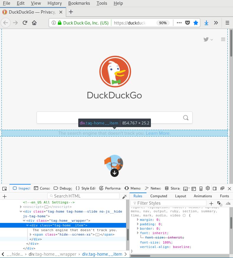 Firefox inspector inspect tab