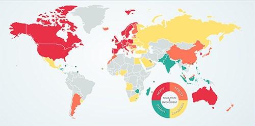 gdpr-world-heat-map