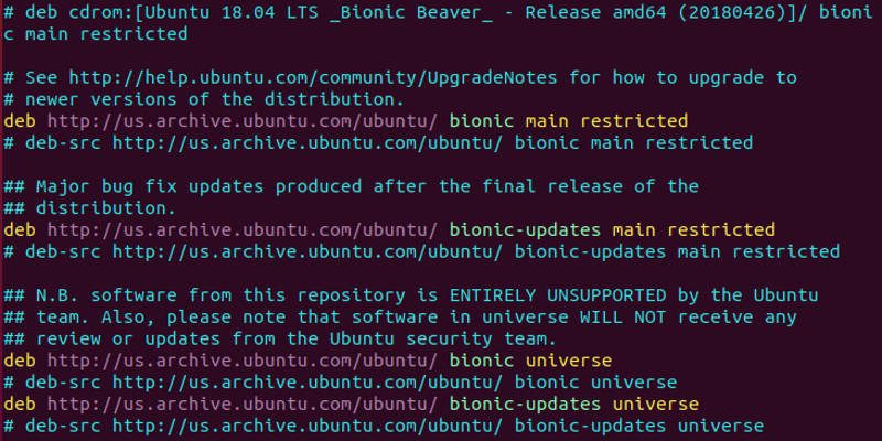Ubuntu Sources