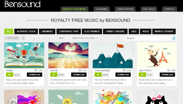 best websites for downloading music