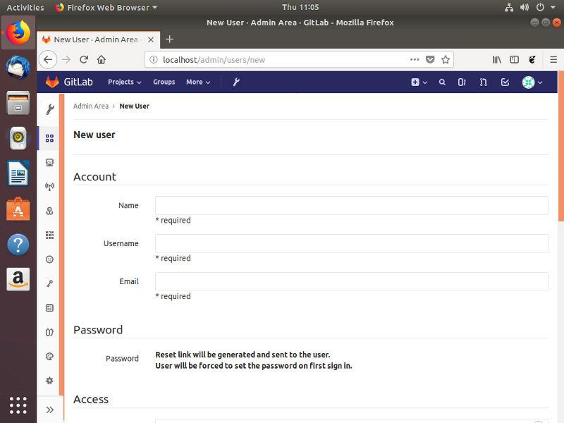 Add user to Gitlab