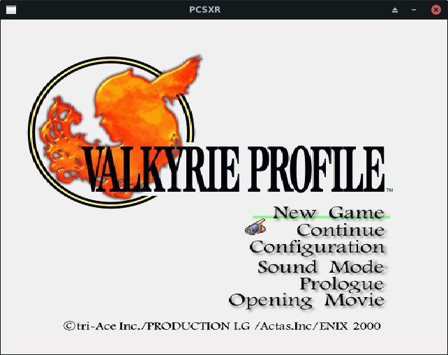 PCSXR Running Valkyrie Profile