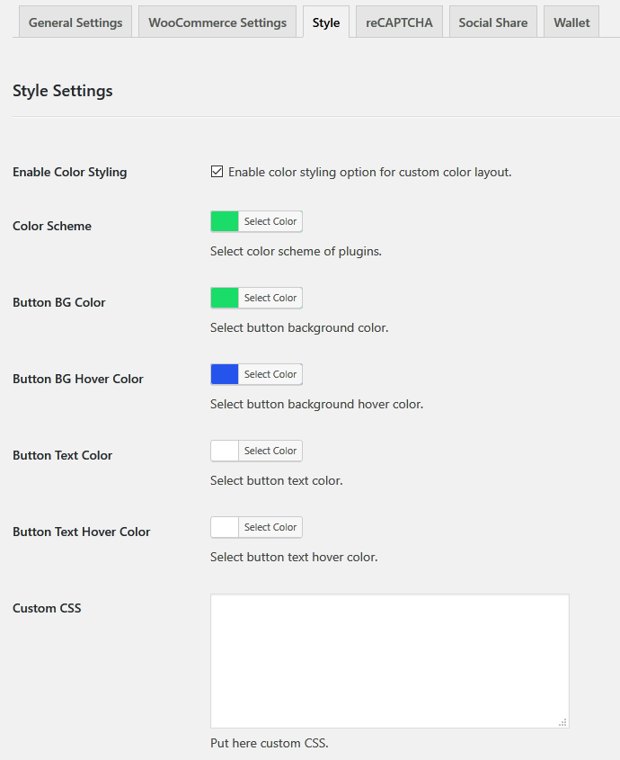 wp-crowdfunding-plugin-style-settings