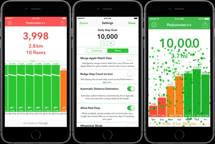 simple pedometer app for iphone
