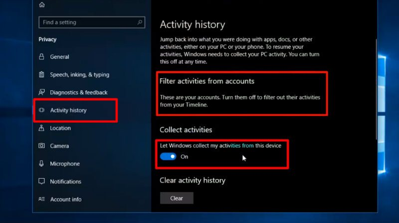How to Make Windows 10 Timeline Work on FireFox and Chrome