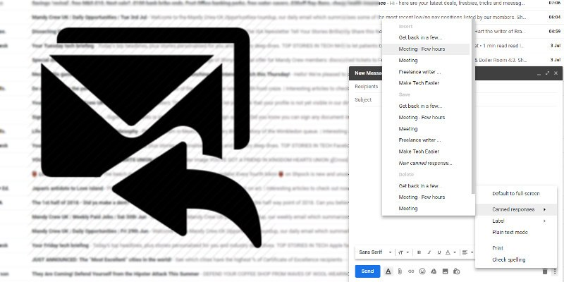 How To Send Canned Responses As Auto Replies In Gmail Make Tech Easier