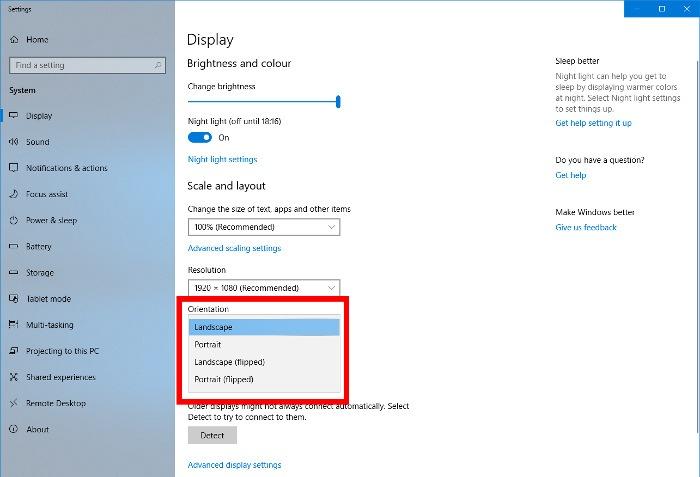 fix-upside-down-screen-display-settings