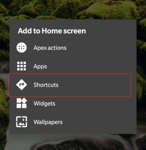 homescreen-shortcut-apex-launcher