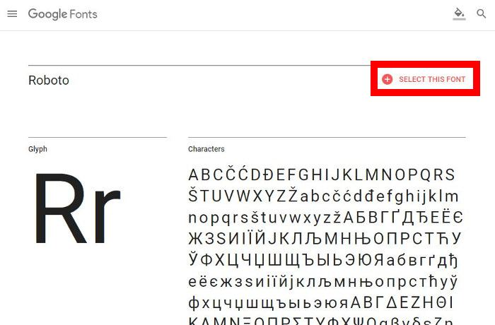 How to Use The Google's Roboto Font Everywhere