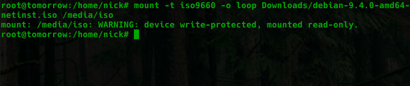 Mount ISO Command Line