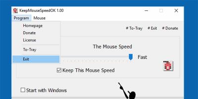 Keep Mouse Speed OK