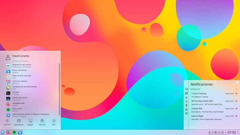 Plasma Theme Helium