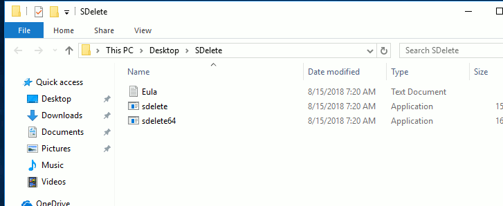 windows10-sdelete-folder