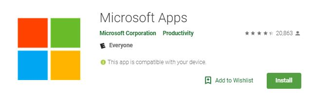android-collaboration-microsoft-apps