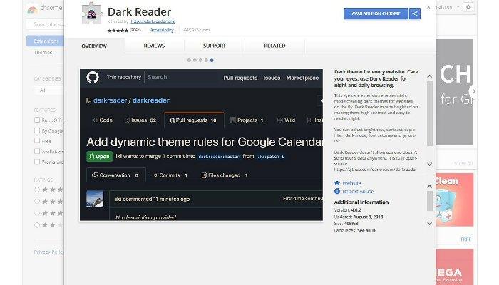 dark-chrome-reader