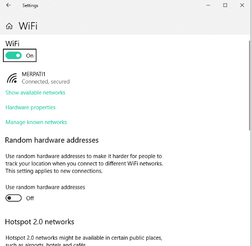windows 10 wifi fixer