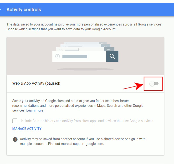 google-web-app-activity-off