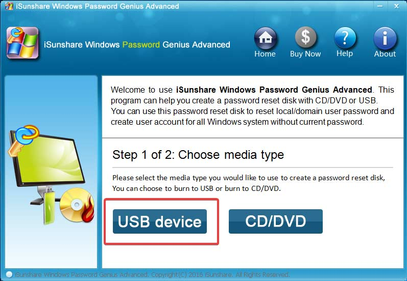 isunshare-password-genius-select-usb-device