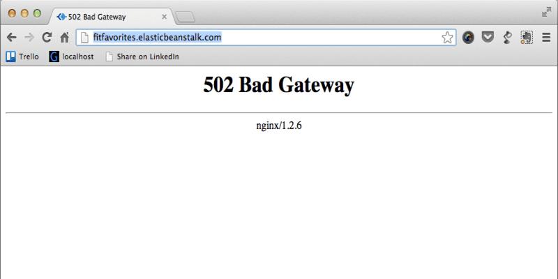 Fehler 502 - Bad Gateway
