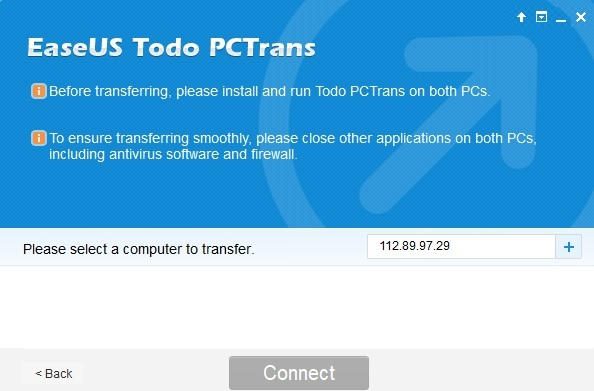 Transfer of files and programs for EaseUS Todo PCTrans solution