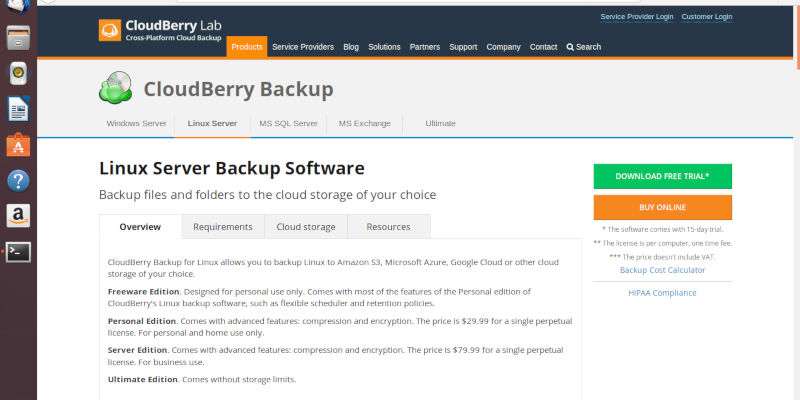 CloudBerry Download Page
