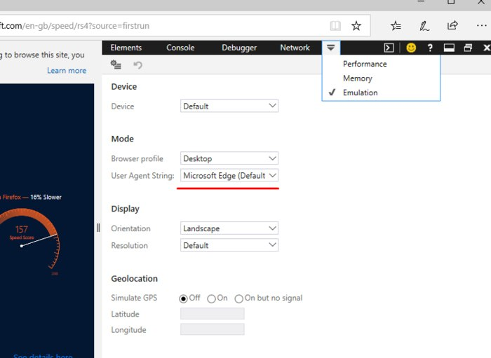 How to Change User Agents in Chrome, Firefox and Edge