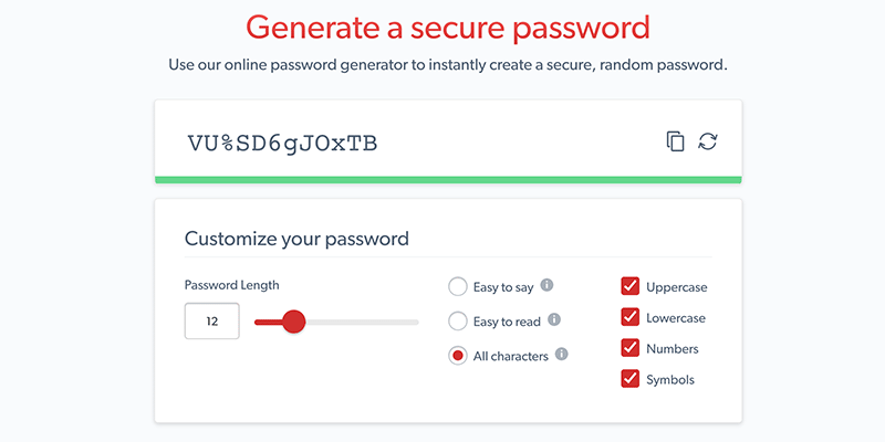 secure password generator easy to remember