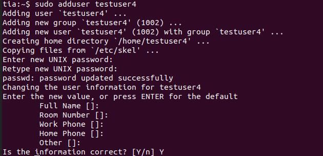 linux-adduser