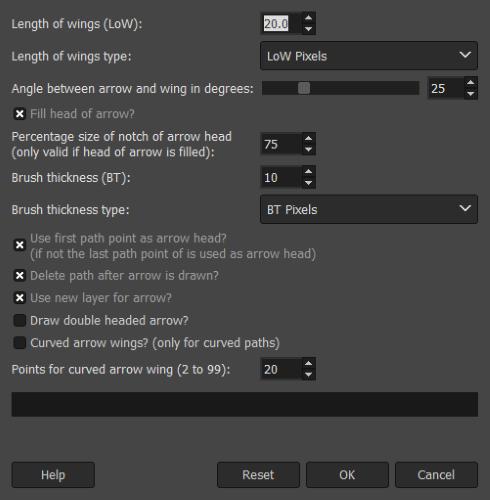 gimp-arrows-settings