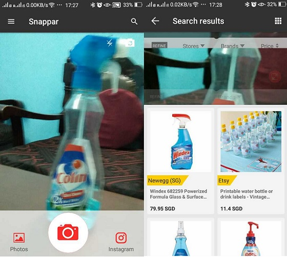 Visual Search online with shopping app, Snappar