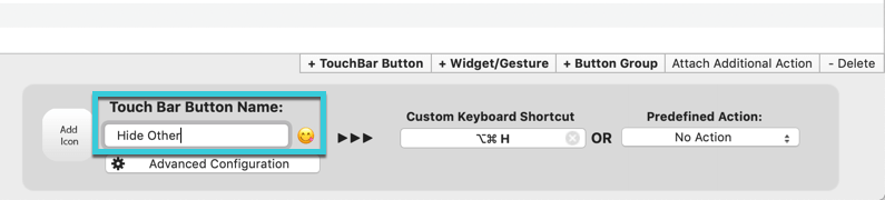 customize-touch-bar-bettertouchtool-button-name