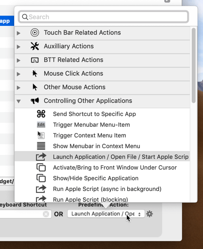 customize-touch-bar-bettertouchtool-predefined-action