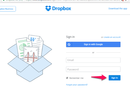 dropbox-using-the-website