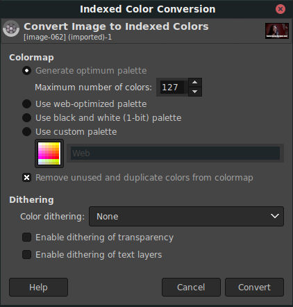 Convert To Index Colors