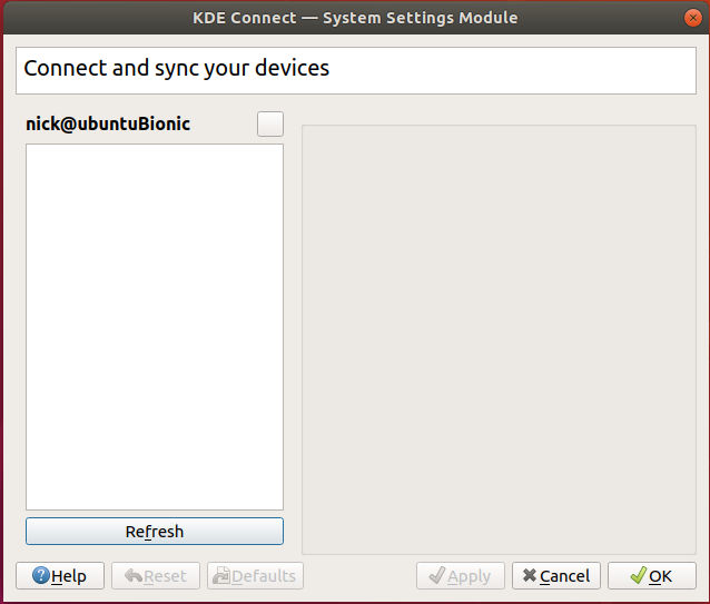KDE Connect Settings Ubuntu