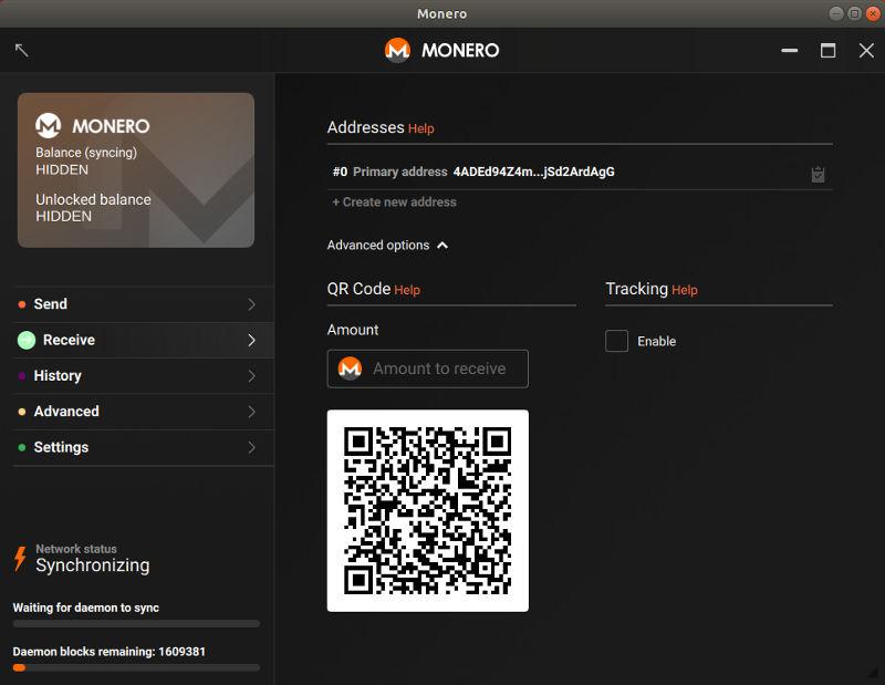 Monero Wallet Address