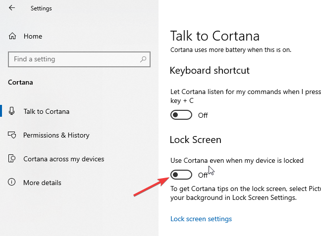 How to Disable Cortana on Lock Screen in Windows 10 - Make