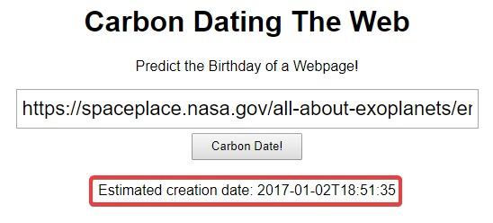 website-date-creation