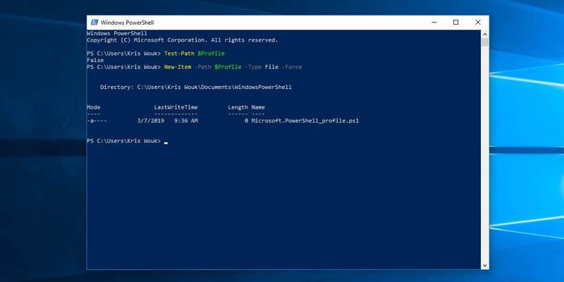 automatic-commands-powershell-powershell-profile