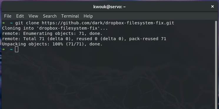 dropbox-non-ext4-filesystem-git-clone