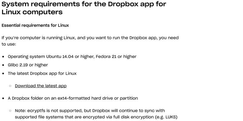dropbox-non-ext4-filesystem-system-requirements