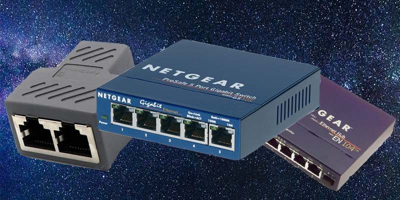 Ethernet Switch Vs Hub Vs Splitter What S The